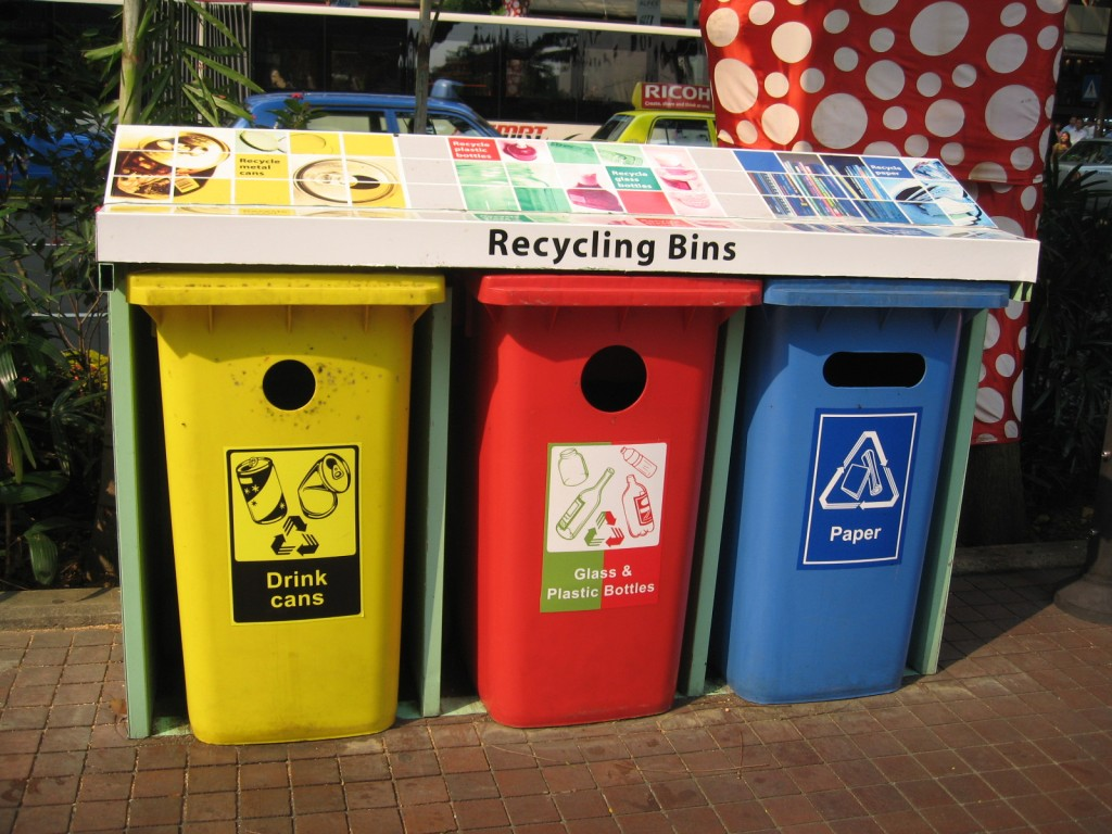 NEA recycling bins along Orchard Road. Taken by Terence Ong