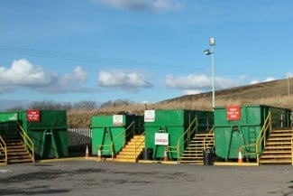 Skips in a Recycling Centre