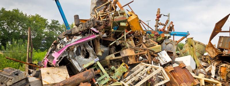 Large pile of scrap