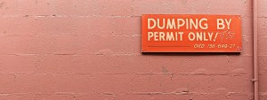 Dumping-by-permit-only-sign