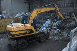 Landfill rubbish london
