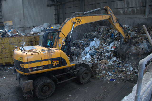 Landfill rubbish london
