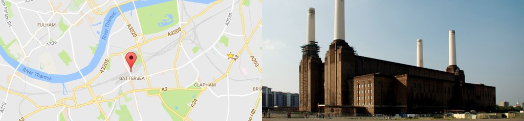 Map of Battersea, and Battersea Powerstation